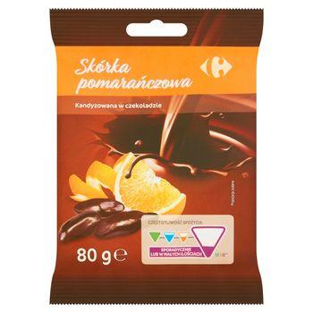 Carrefour Skórka pomarańczowa kandyzowana w czekoladzie 80 g