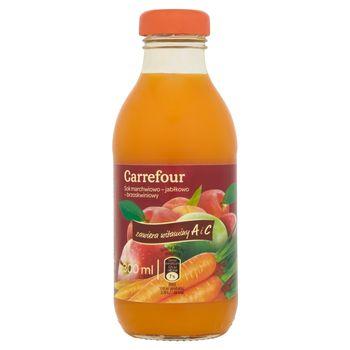 Carrefour Sok marchwiowo-jabłkowo-brzoskwiniowy 300 ml