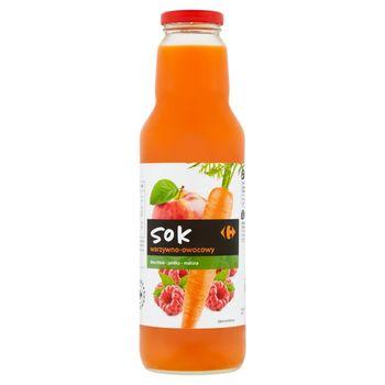 Carrefour Sok warzywno-owocowy marchew-jabłko-malina 750 ml