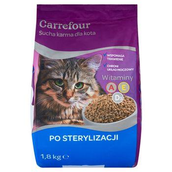 Carrefour Sucha karma dla kota po sterylizacji 1,8 kg