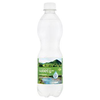 Carrefour Sudety+ Naturalna woda mineralna lekko gazowana 500 ml