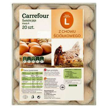 Carrefour Świeże jaja z chowu ściółkowego L 20 sztuk