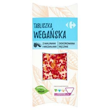 Carrefour Tabliczka wegańska z malinami i migdałami 100 g