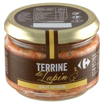 Carrefour Terrine Konserwa wieprzowa z mięsem z królika 180 g