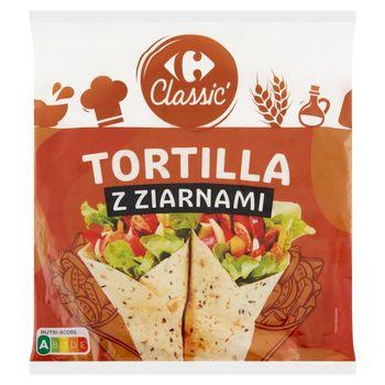 Carrefour Classic Tortilla z ziarnami 250 g (4 x 62,5 g)