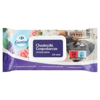 Carrefour Essential Chusteczki gospodarcze uniwersalne 120 sztuk