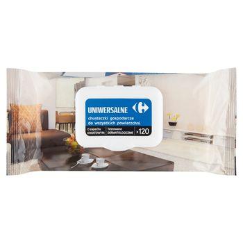 Carrefour Uniwersalne chusteczki gospodarcze do wszystkich powierzchni o zapachu kwiatowym 120 sztuk
