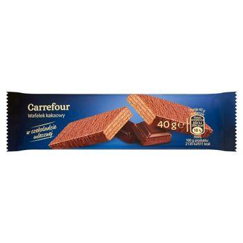 Carrefour Wafelek kakaowy w czekoladzie mlecznej 40 g