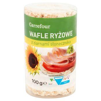 Carrefour Wafle ryżowe z ziarnami słonecznika 100 g