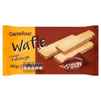 Carrefour Wafle z kremem kakaowym 180 g