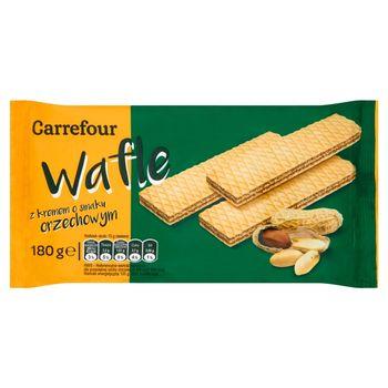 Carrefour Wafle z kremem o smaku orzechowym 180 g