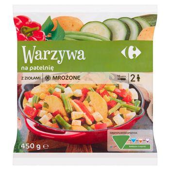 Carrefour Warzywa na patelnię z ziołami mrożone 450 g