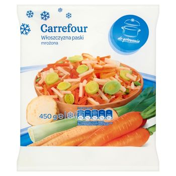 Carrefour Włoszczyzna paski mrożona 450 g