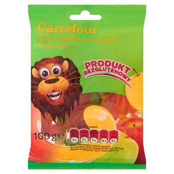 Carrefour Żelki z sokiem owocowym dżdżownice 100 g