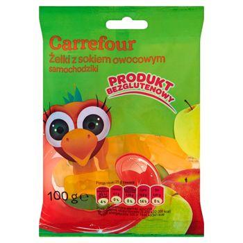 Carrefour Żelki z sokiem owocowym samochodziki 100 g