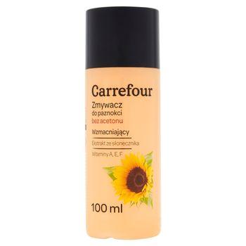 Carrefour Zmywacz do paznokci bez acetonu wzmacniający 100 ml