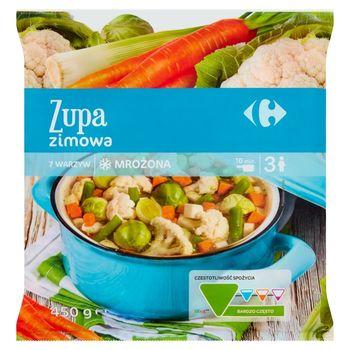 Carrefour Zupa zimowa mrożona 450 g
