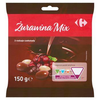 Carrefour Żurawina mix 3 rodzaje czekolady 150 g