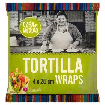 Casa de Mexico Placek pszenny tortilla 25 cm 240 g (4 sztuki)