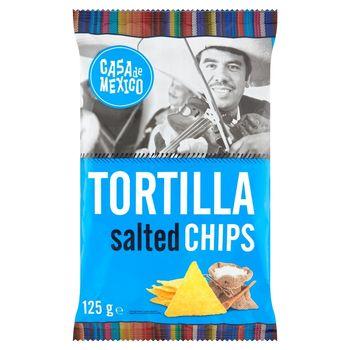 Casa de Mexico Tortilla Chipsy kukurydziane naturalne solone 125 g