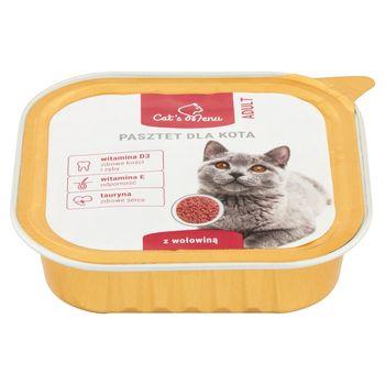 Cat's Menu Adult Pasztet dla kota z wołowiną 100 g