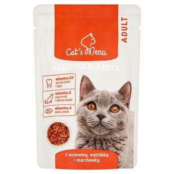Cat's Menu Adult Saszetka dla kota z wołowiną wątróbką i marchewką 100 g