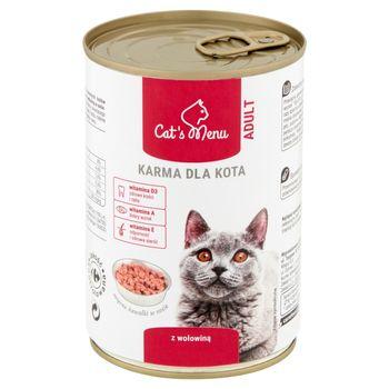 Cat's Menu Adult Karma dla kota z wołowiną 400 g