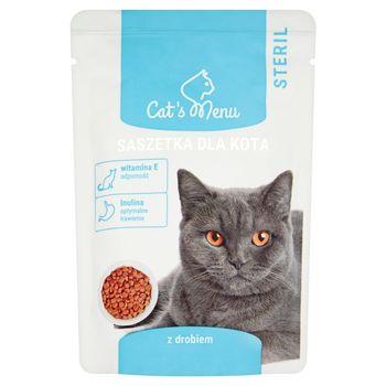 Cat's Menu Steril Saszetka dla kota z drobiem 100 g