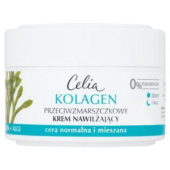Celia Kolagen Przeciwzmarszczkowy krem nawilżający z algami na dzień i noc 50 ml