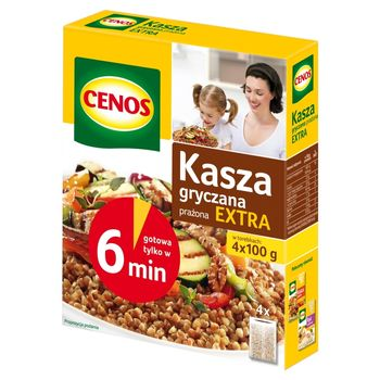 Cenos Kasza gryczana prażona extra 400 g (4 torebki)