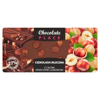 Chocolate Place Czekolada mleczna z całymi orzechami laskowymi 100 g