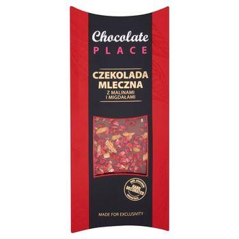 Chocolate Place Czekolada mleczna z  malinami i migdałami 100 g