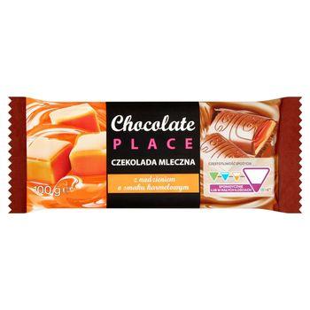 Chocolate Place Czekolada mleczna z nadzieniami o smaku karmelowym 100 g
