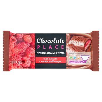 Chocolate Place Czekolada mleczna z nadzieniami o smaku malinowym 100 g