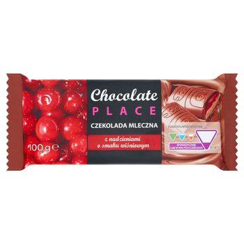 Chocolate Place Czekolada mleczna z nadzieniami o smaku wiśniowym 100 g