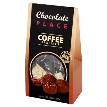 Chocolate Place Praliny z czekolady mlecznej z nadzieniem śmietankowo-kawowym z alkoholem 120 g