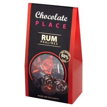 Chocolate Place Praliny z czekolady z nadzieniem czekoladowo-śmietankowym z rumem 120 g
