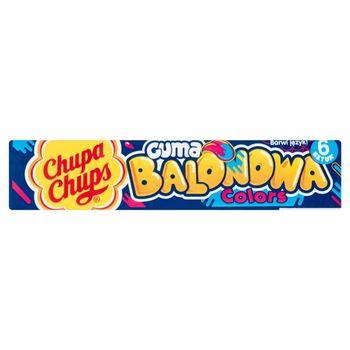 Chupa Chups Colors Guma balonowa o smaku niebieskiej maliny 27,6 g (6 sztuk)