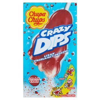 Chupa Chups Crazy Dips Lizak ze strzelającym proszkiem smak coli 14 g