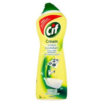 Cif Cream Lemon z mikrokryształkami Mleczko do czyszczenia powierzchni 780 g