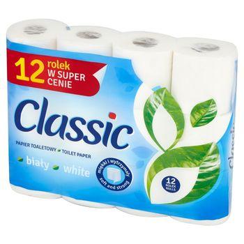 Classic Papier toaletowy biały 12 rolek