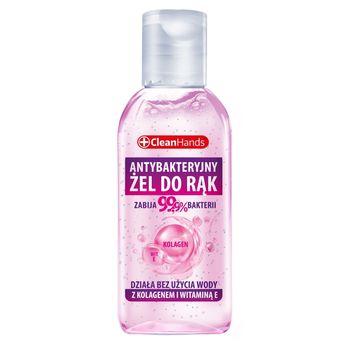 CleanHands Antybakteryjny żel do rąk z kolagenem i witaminą E 50 ml