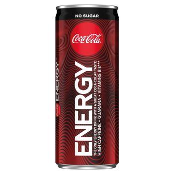 Coca-Cola Energy No Sugar Napój gazowany energetyzujący 250 ml