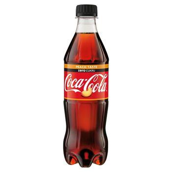 Coca-Cola zero Peach Taste Napój gazowany 500 ml