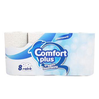 Comfort Plus papier toaletowy 2-warstwowy, 8 rolek