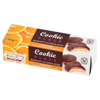 Cookie Place Biszkopty w czekoladzie z galaretką o smaku pomarańczowym 150 g
