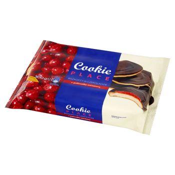 Cookie Place Biszkopty w czekoladzie z galaretką wiśniową 300 g