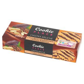Cookie Place Ciastka kruche z orzechami arachidowymi i polewą kakaową 200 g