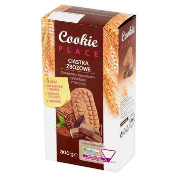 Cookie Place Ciastka zbożowe kakaowe z kawałkami czekolady mlecznej 300 g