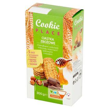 Cookie Place Ciastka zbożowe z kawałkami czekolady mlecznej orzechami laskowymi i miodem 300 g